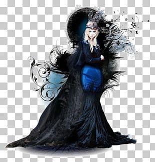 Black Fairy Tale Designer PNG