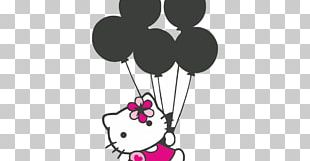 Hello Kitty Logo Sticker Label PNG