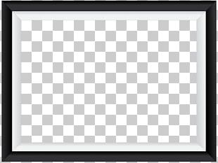 Square Area Frame Black And White Pattern PNG