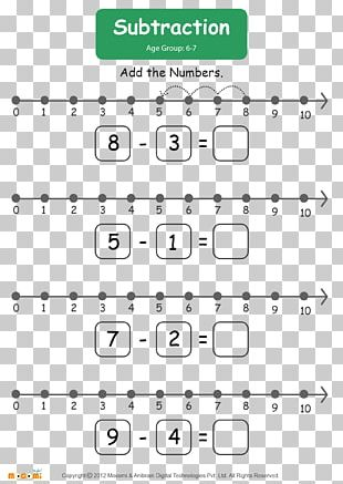 Number Line Mathematics Addition Worksheet Subtraction PNG