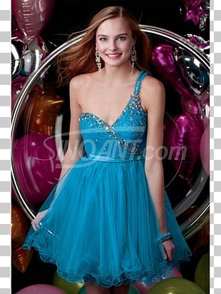 Dress Turquoise Blue Formal Wear A-line PNG