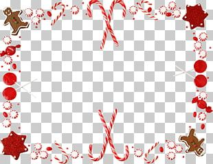 Candy Cane Christmas Borders And Frames PNG