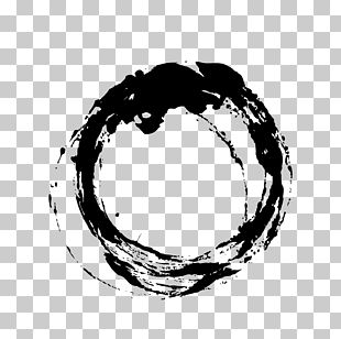 Ink Brush Circle PNG