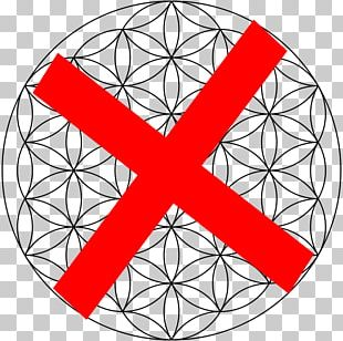 Overlapping Circles Grid Sacred Geometry Life Drawing PNG