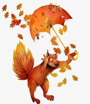 Autumn Squirrel PNG