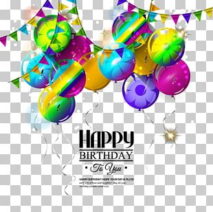 Happy Birthday To You Greeting Card Illustration PNG