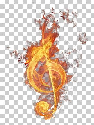 Musical Note Sol Anahtaru0131 Fire PNG