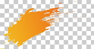Orange Gradient Brush PNG