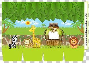 Convite Party Paper Safari Birthday PNG