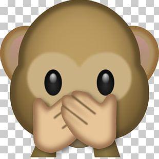 The Evil Monkey Emoji Three Wise Monkeys PNG