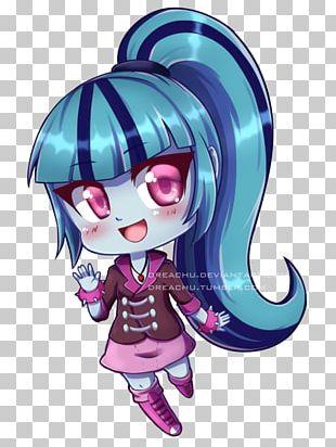 Chibi Fan Art Sonata Dusk My Little Pony PNG
