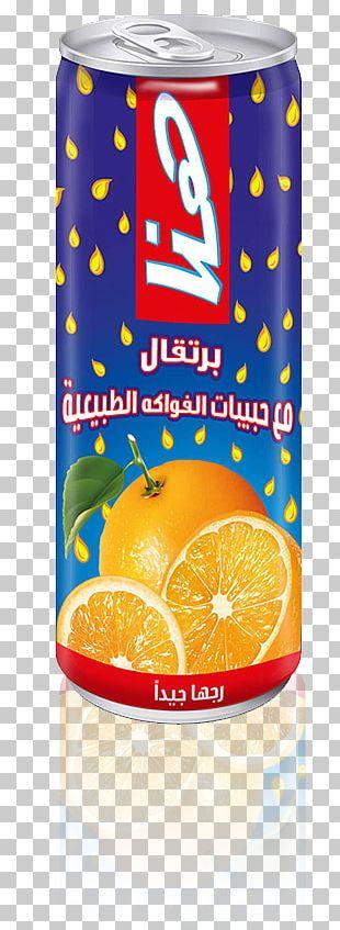 Orange Drink Orange Juice Orange Soft Drink Tin Can PNG