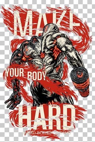 Female Bodybuilding Logo Art Graphic Design PNG