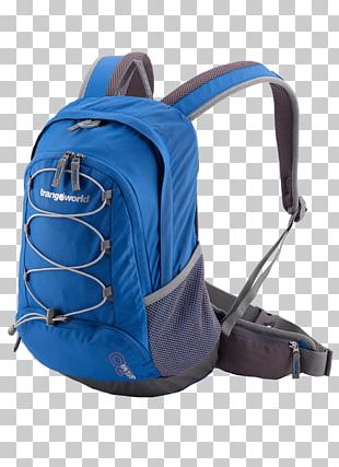 Backpack Blue Bag Red Travel PNG