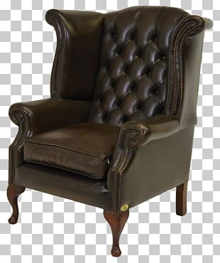 Club Chair Wing Chair Couch Queen Anne Style Furniture PNG