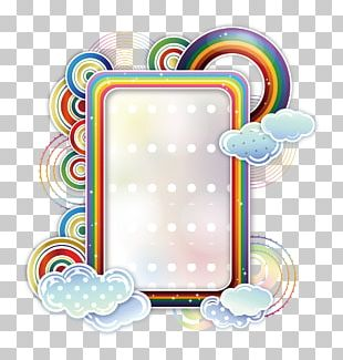 Borders And Frames Rainbow Cloud PNG