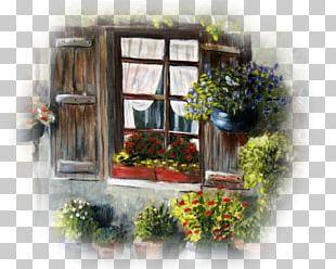 Floral Design Window PNG