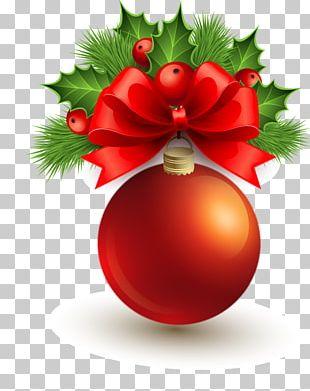 Christmas Ornament Christmas Tree Ball Red PNG