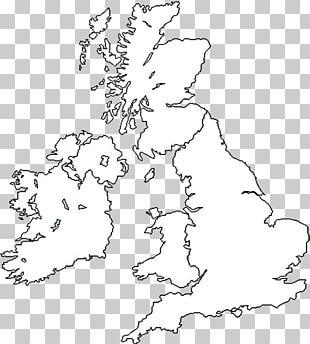 Great Britain British Isles Blank Map World Map PNG