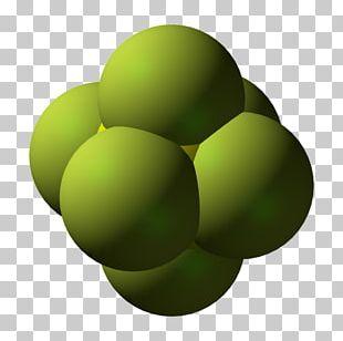 Sulfur Hexafluoride Xenon Hexafluoride Space-filling Model PNG