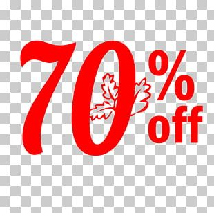 Thanksgiving Sale 70% Off Discount Tag. PNG
