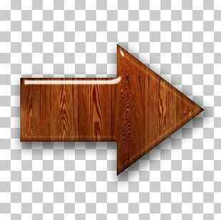 Wood Veneer Arrow Wooden Box PNG