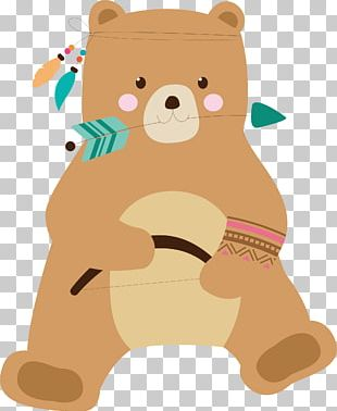 Brown Bear Teddy Bear Illustration PNG