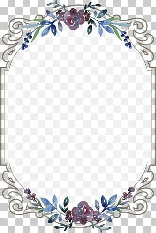 Wedding Invitation Menu Template PNG