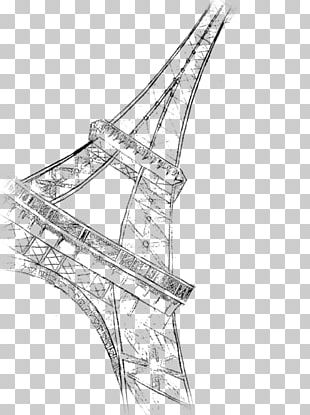 Eiffel Tower Drawing Painting Line Art Sketch PNG
