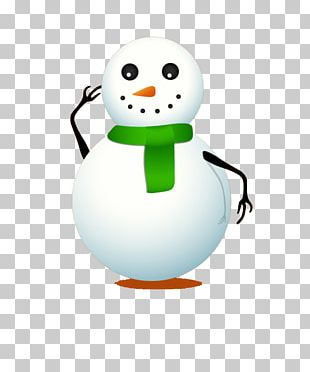 Snowman Cartoon Drawing PNG