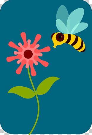 Honey Bee Pollen Flower PNG