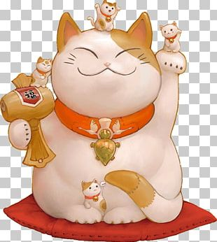 Maneki-neko Neko Atsume Cat Luck Desktop PNG