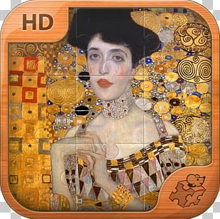 Portrait Of Adele Bloch-Bauer I Woman In Gold Painting Art PNG