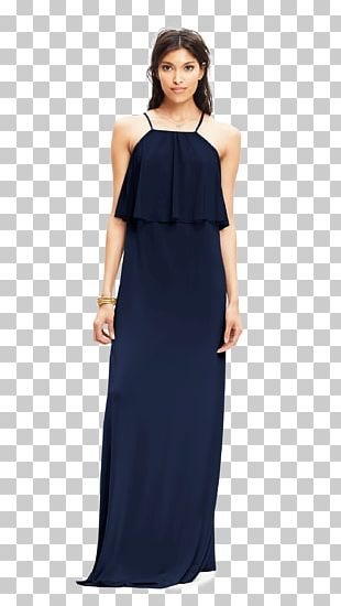 Bridesmaid Dress Navy Blue PNG
