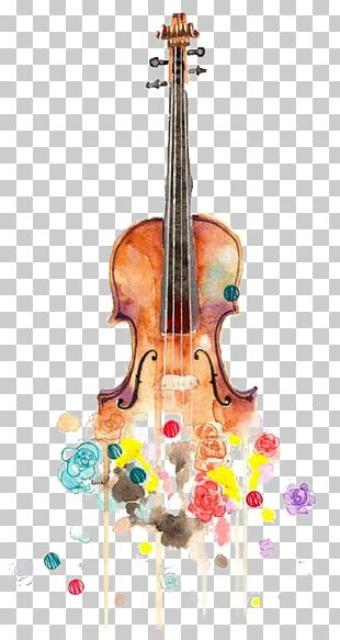 Violin Drawing Watercolor Painting Music Cello PNG