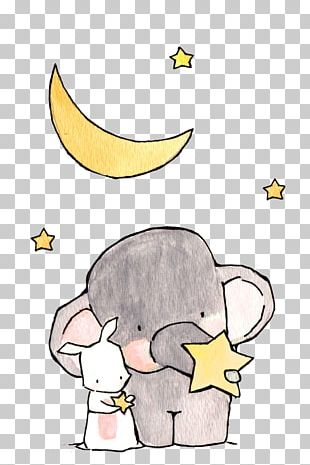 Elephant Drawing Cartoon Illustration PNG