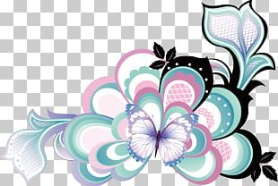 Floral Design Butterfly Drawing Flower PNG