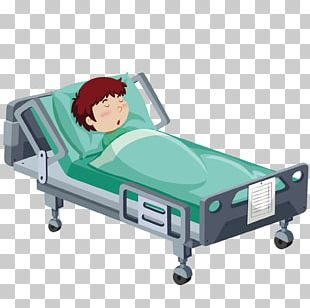 Hospital Bed Patient PNG