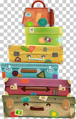 Suitcase Travel Baggage PNG