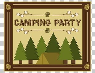 Wedding Invitation S'more Camping Food Party PNG