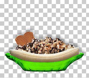 Banana Split Vegetarian Cuisine Ice Cream Banana Pudding PNG