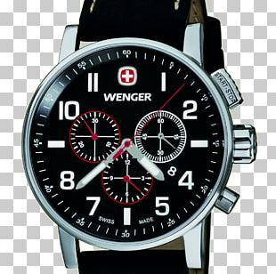 Wenger Chronograph Watch Swiss Made Strap PNG