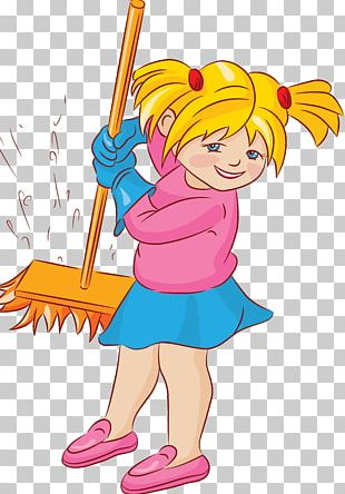 Child Cleaning PNG