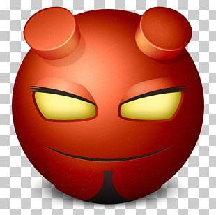 Emoticon Smiley Face Orange PNG
