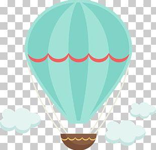 Hot Air Balloon Scrapbooking PNG