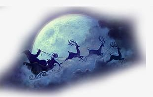 Christmas Christmas Moon Transparent Background Element Material PNG