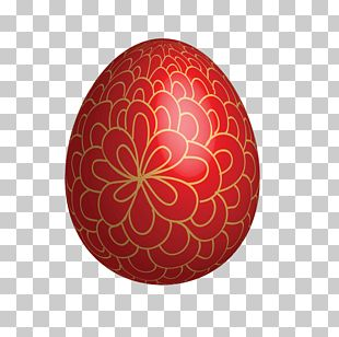 Red Easter Egg Easter Bunny PNG