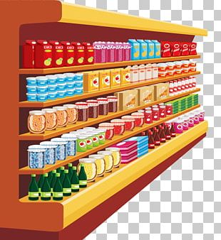 Supermarket Grocery Store Cartoon PNG