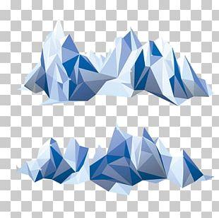 Polygon Mountain Geometry Iceberg PNG