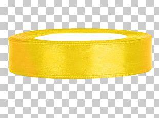 Ribbon Yellow Color Organza Satin PNG